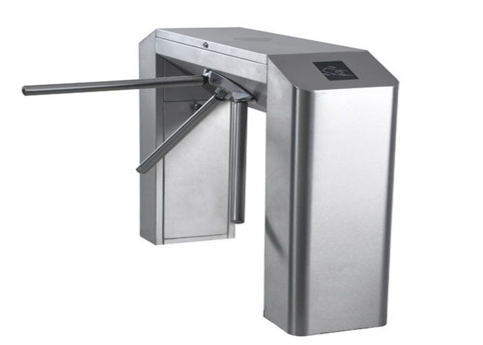 Auto Security Bridge Tripod Turnstile Gate With IC / ID Card Readers